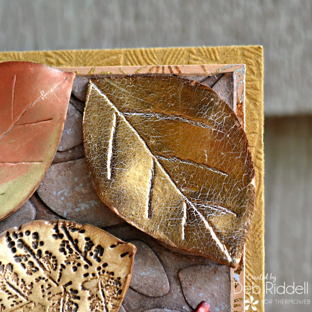Autumn Leaves Mixed Media Plaque Detail