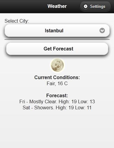 Primefaces Mobile - Weather App Example - A  Nene