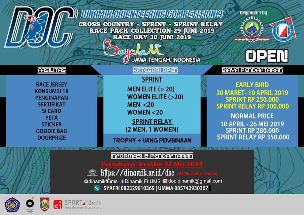 DOC IX Open - Dinamik Orienteering Competition  • 2019