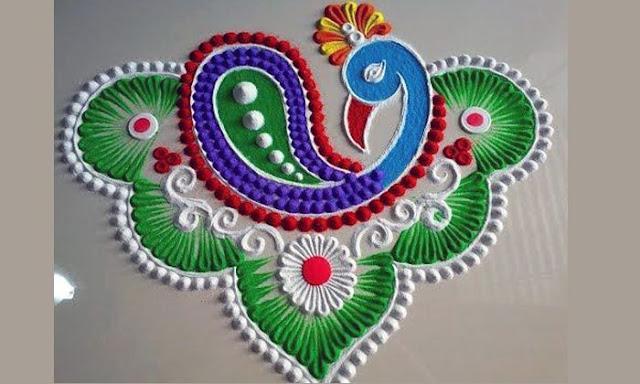 New Simple Rangoli Design Photos for Diwali