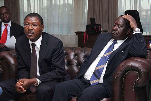 Image result for MOSES WETANGULA, uhuru kenyatta and Raila Odinga