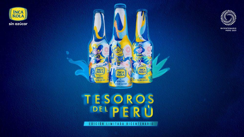 coleccion de botellas bicentenario inca kola