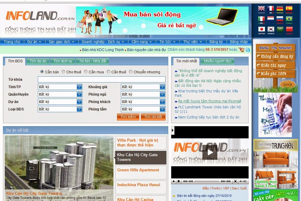 thiết kế web bất động sản đẹp