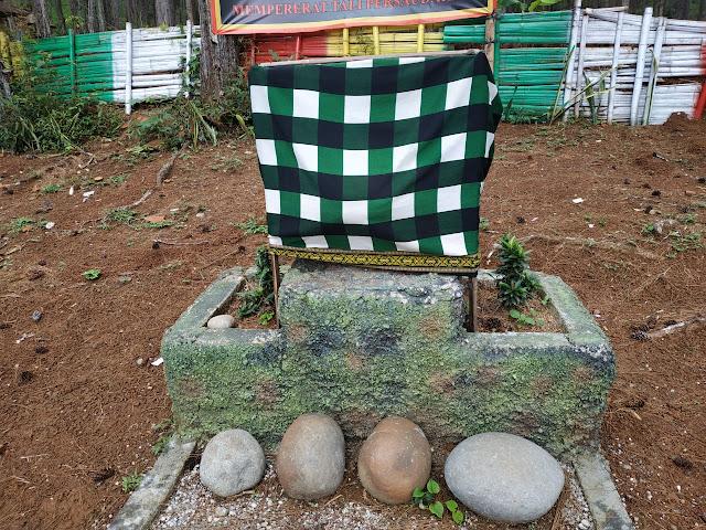 batu berbentuk tetstis di taman watu jali somagede
