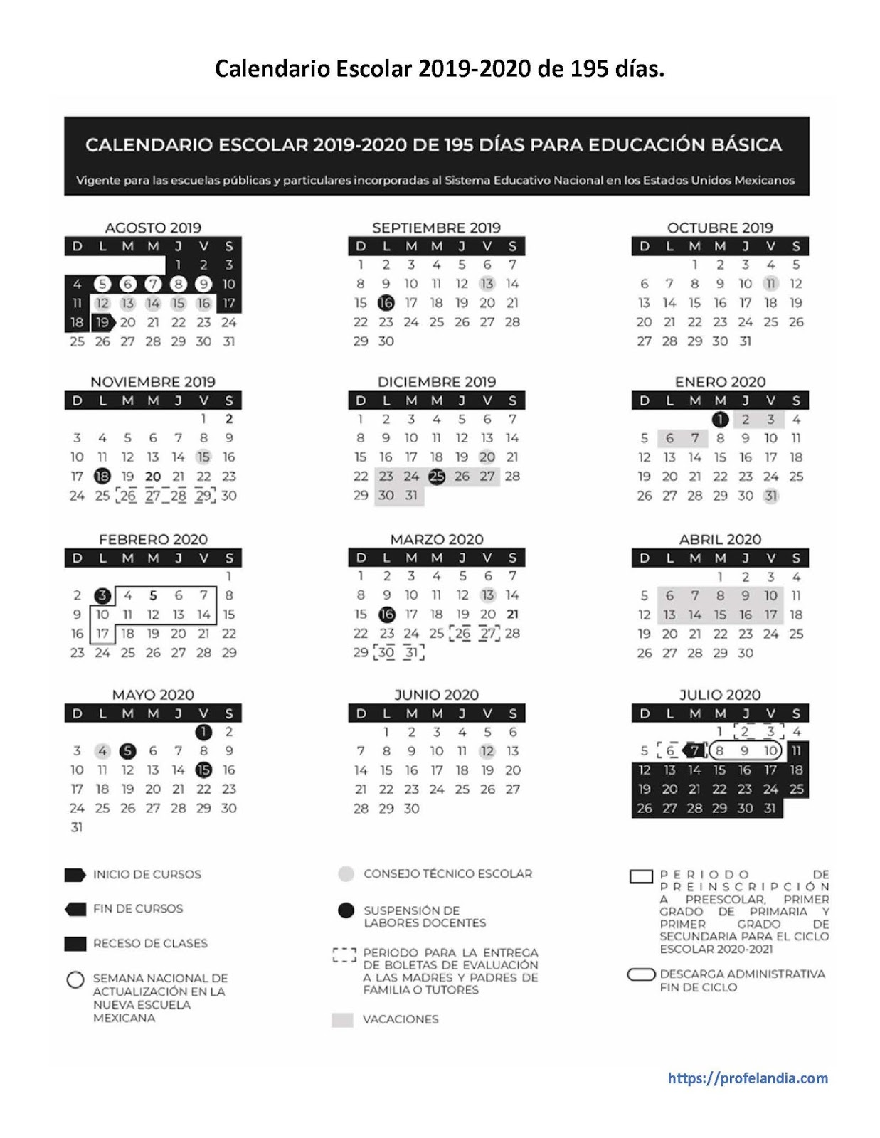 Calendario Agosto 2019 Julio 2020.Calendario Escolar 2019 2020 Alexduve
