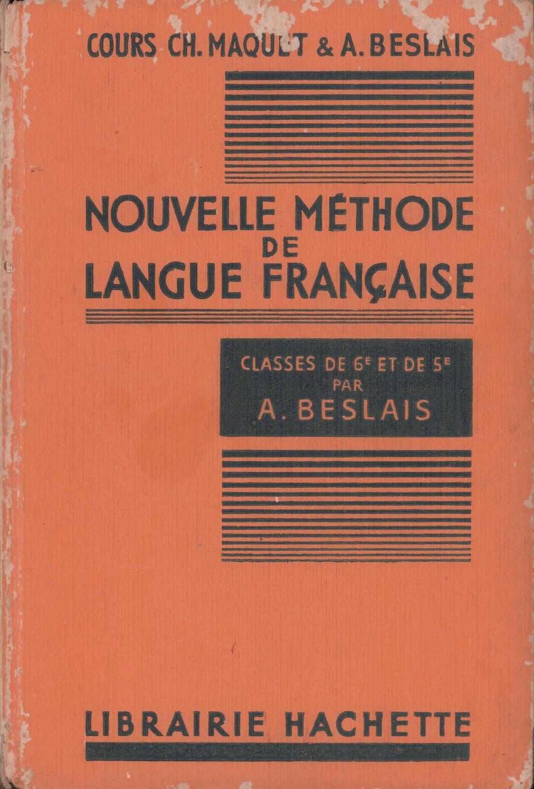Manuels Anciens Beslais Nouvelle Methode De Langue