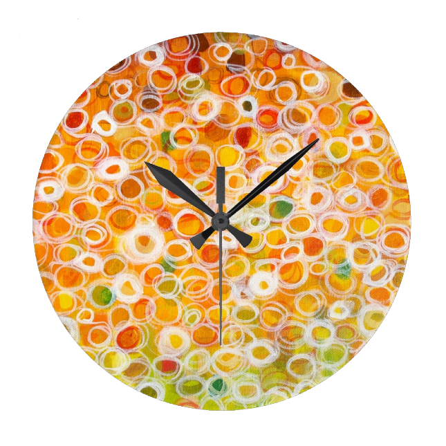 http://www.zazzle.com/autumns_approach_abstract_circles_fall_colors_clock-256494798404800030
