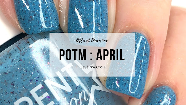 Different Dimensions April Polish of the Month 25 Sweetpeas