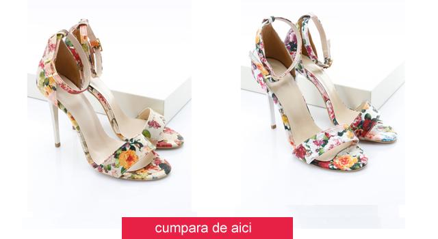 Sandale elegante cu imprimeu floral ieftine de zi / de ocazii