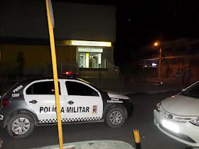 As duas únicas agências Bancárias da cidade de Caraúbas são destruídas na madrugada de hoje(07)