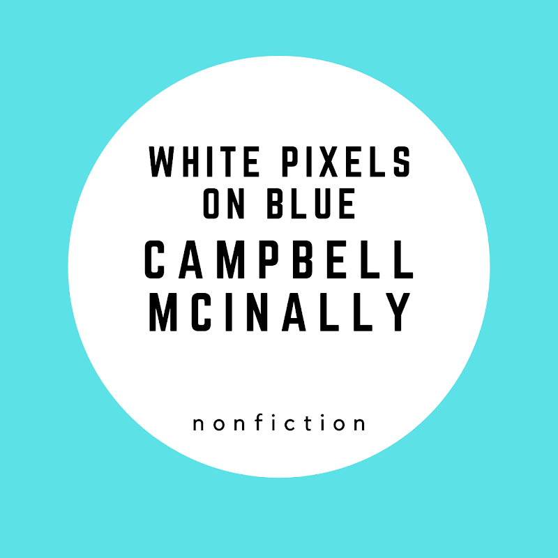 White Pixels on Blue