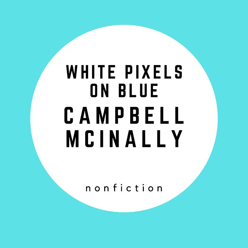 White Pixels on Blue
