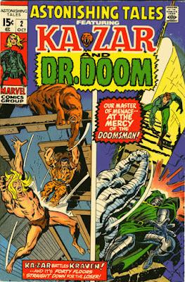 Astonishing Tales #2, Ka-Zar and Dr Doom