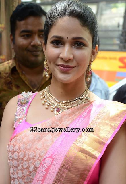 Lavanya Tripati in Diamond Pearls Choker
