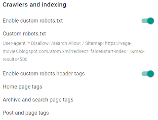 Crawlers and indexing