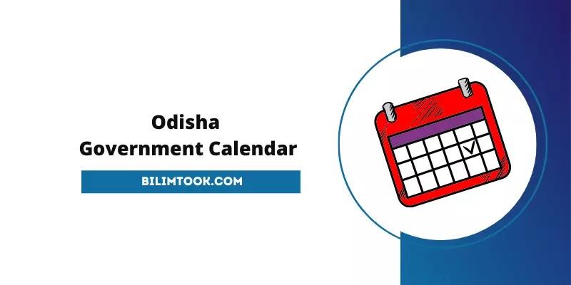 Odisha Govt Calendar 2022