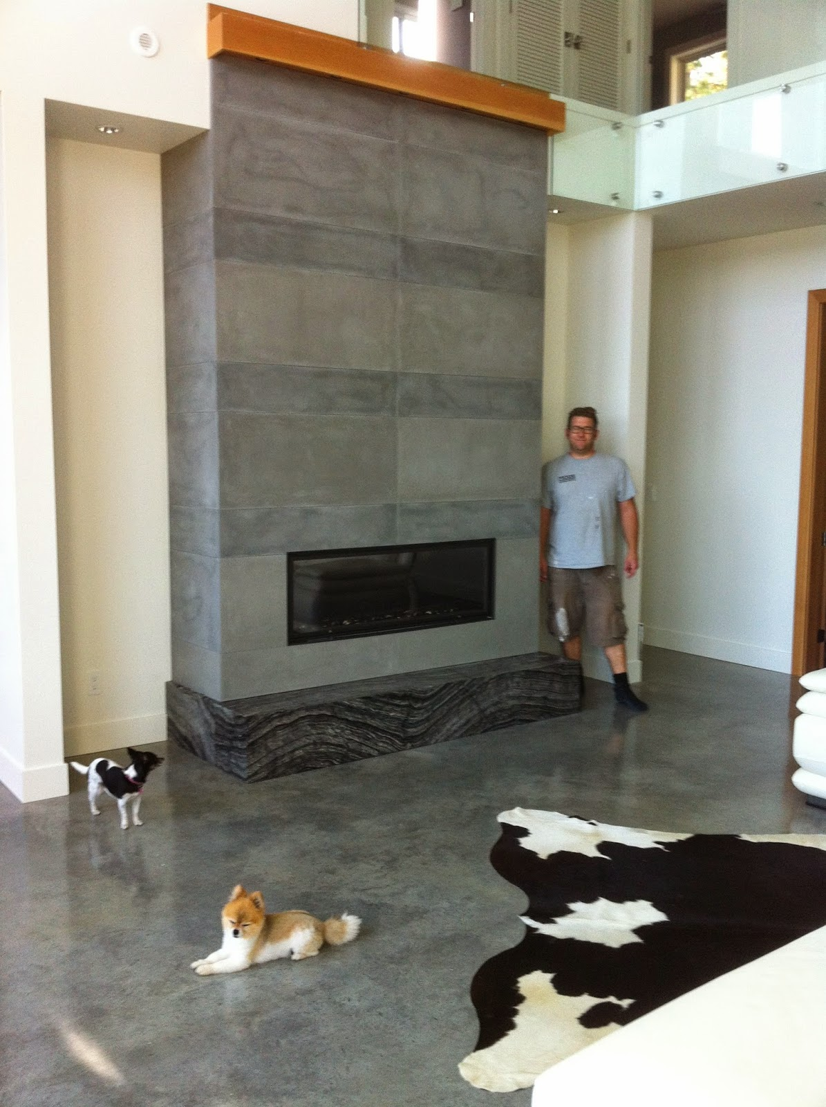 Contemporary Concrete Fireplace Tiles Are All The Rage Article By Mode In Kelowna Bc