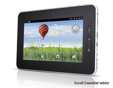Scroll Essential tablet