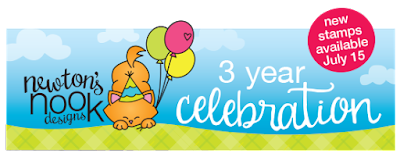 Newton's Nook Designs 3 year celebration and new stamp release #newtonsnook