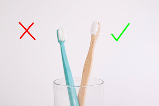 Bamboo toothbrushes for oral hygiene