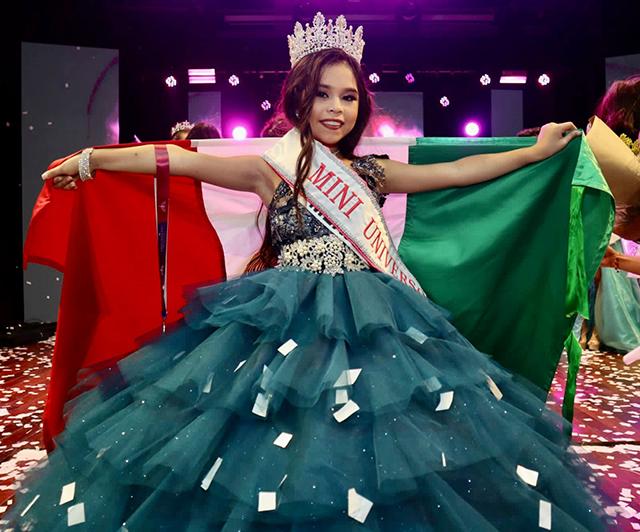 La yucateca Renata González, representando a México, gana Mini Universo edición 2021