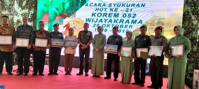 HUT Korem 052/Wkr Bangun Soliditas TNI Polri