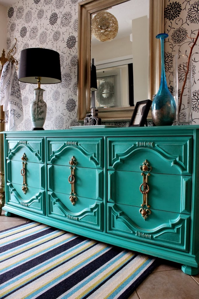 painted emerald dresser