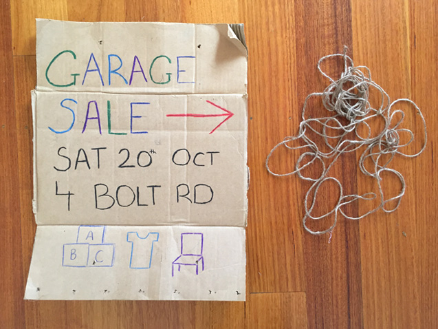 Garage Sale Trail (without the balloons and plastic tape)