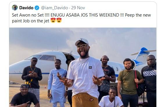Davido Fails His Fans In Jos