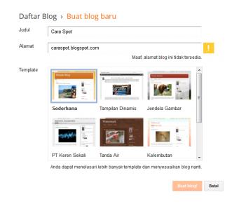 Cara Paling Mudah Untuk Membuat Blogspot Bagi Pemula Hanya Dalam Hitungan Menit
