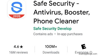 Safe security app have 4.6 ratings