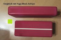Vergleich Länge: Yogablock »Damodar« - flach- erhältlich in den Trendfarben: Erdbraun Moosgrün Bordeaux Currygelb Lila - der ideale Yogaklotz aus gehärteten Schaumstoff (Hartschaum)- REACH geprüft (keine Schadstoffe) der Yoga Brick ist ein praktisches Hilfsmittel (Yogazubehör) für eine Vielzahl an Yogaübungen / Asanas : Gesamtgewicht liegt bei ca.180g (schön leicht) / Größe 28cm x 20cm x 5cm