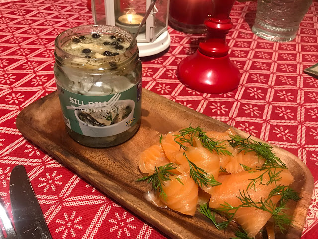 Pickled herring and gravadlax