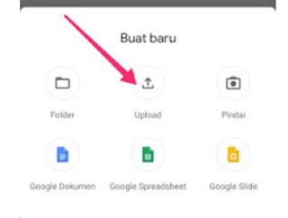 Upload foto hp ke Google drive