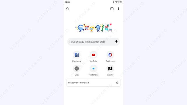 buka browser google chrome