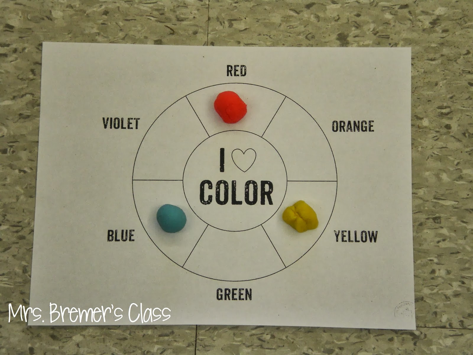 Mrs Bremer S Class Color Mixing Activity Art Lesson For