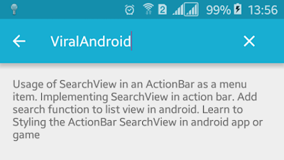 Android Example: How to Implement/Add SearchView in ActionBar
