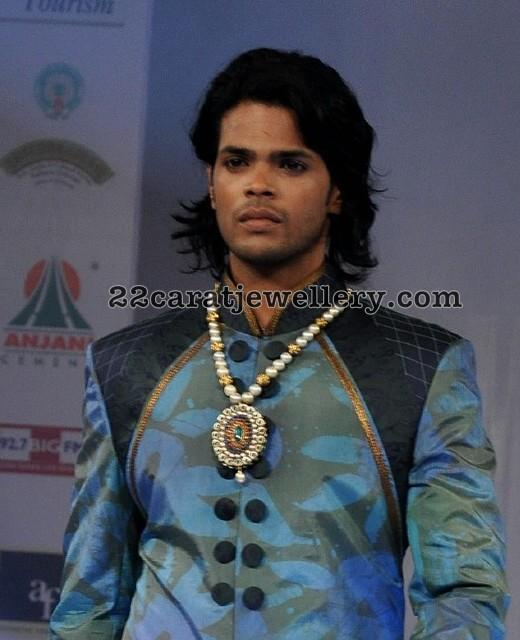 Male Model Pearls Jewellery