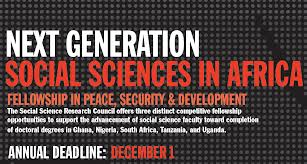 The Next Generation Social Sciences in Africa program provides fellowships to nurture the intellectual development and increase retention of early-career faculty in Ghana, Nigeria, South Africa, Tanzania, and Uganda.