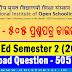 NIOS D.El.Ed: Semester 2 (2018) - 505 - Download Question paper (Odia)