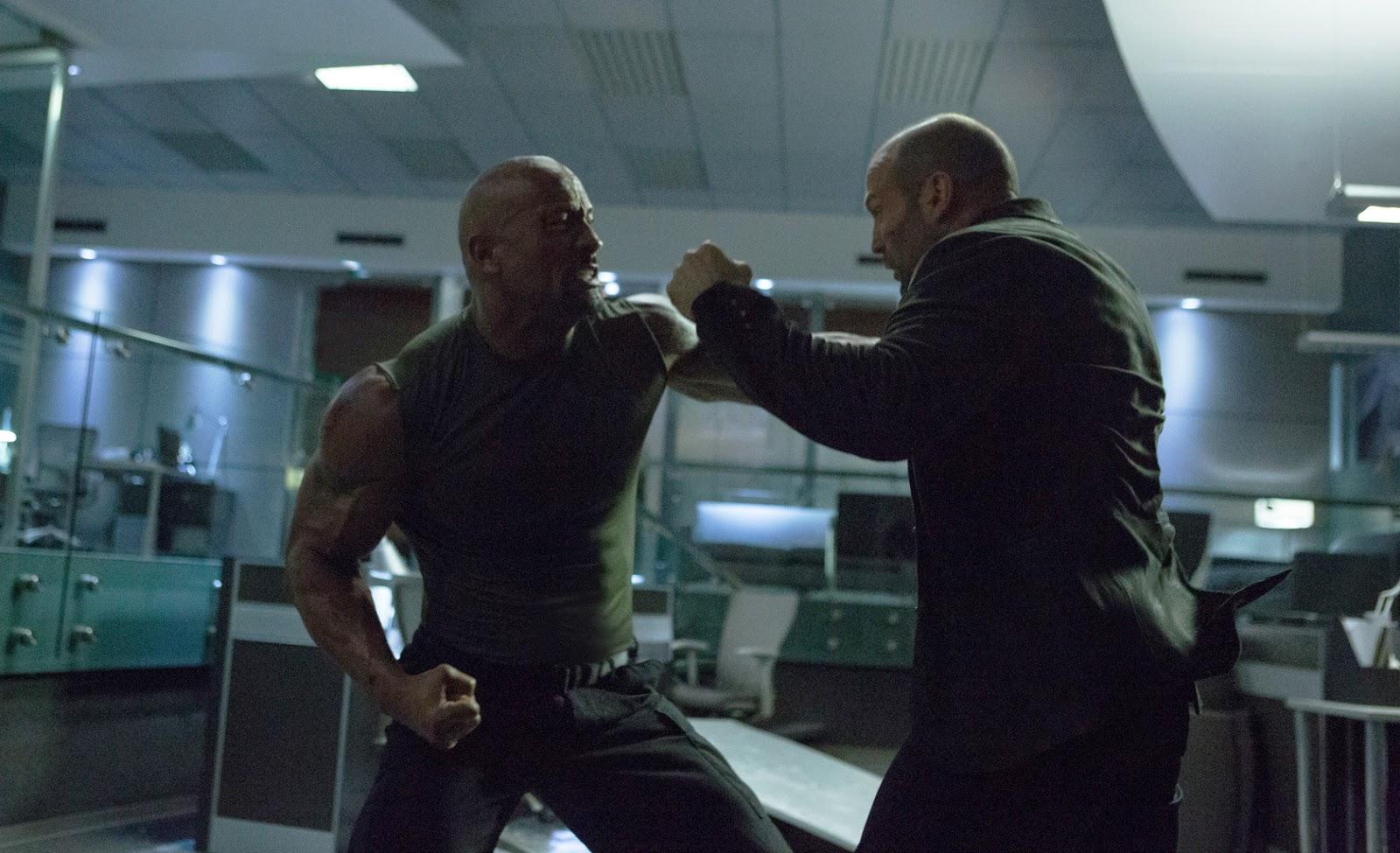 Dwayne Johnson vs. Jason Statham în Furious 7