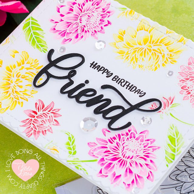 Dahlia Birthday Card | Jane's Doodles