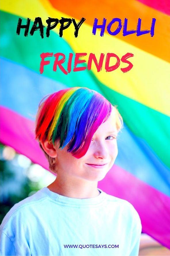 Happy Holi Colorful Boy