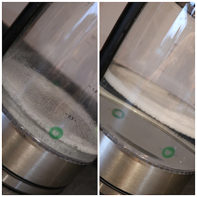 white vinegar and water descaling kettle
