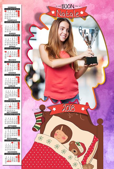 Calendario 2018 natalizio