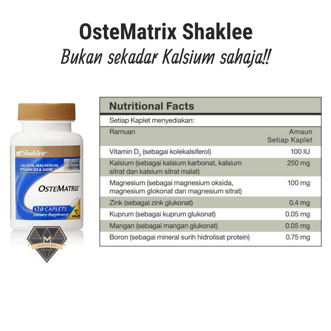 ostematrix shaklee kandungan bukan sekadar kalsium