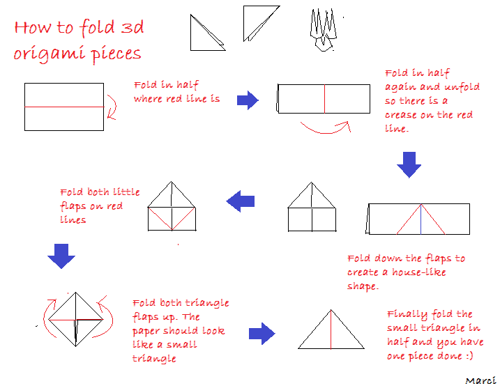 Make an Easy 3D Origami Christmas Tree with 1 Piece of Paper ... | 557x717