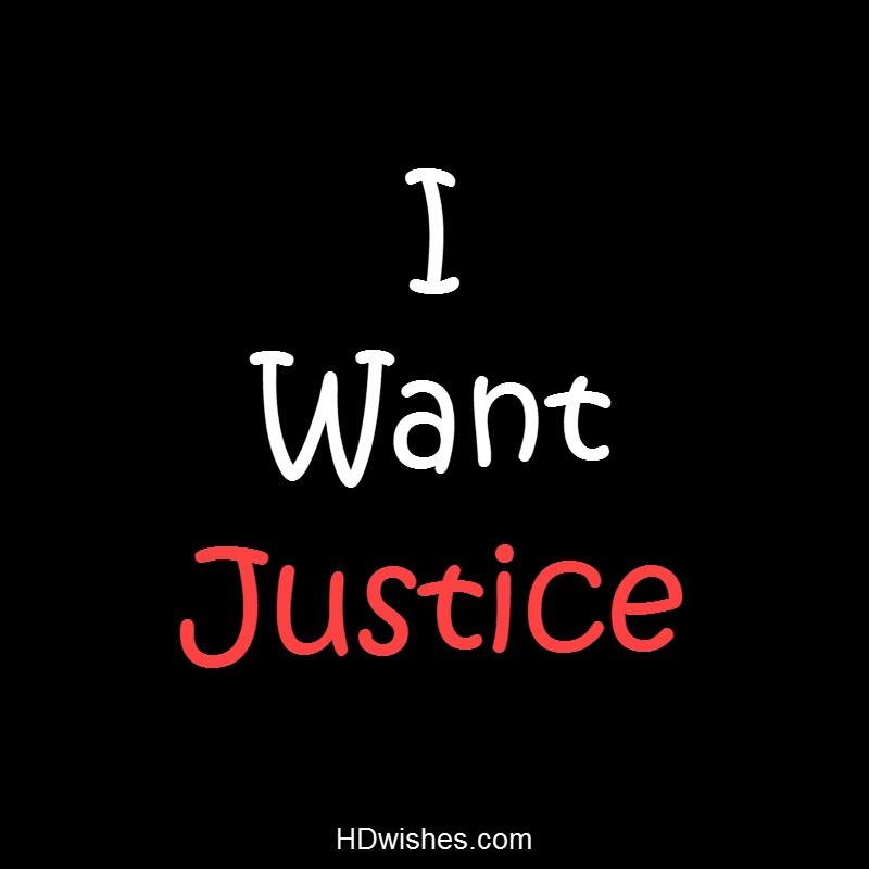 I Want Justice Black DP