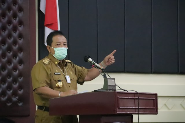 Gubernur Arinal Pimpin Rapat Koordinasi Penanganan Serta Pelaksanaan Vaksin Covid-19 Provinsi Lampung