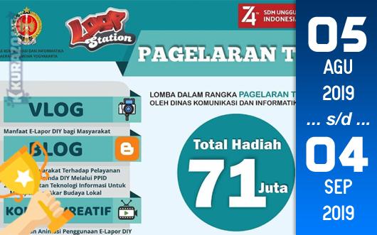 Kompetisi Blog - Pagelaran TIK 2019 Berhadiah Total Uang Tunai 71 Juta Rupiah